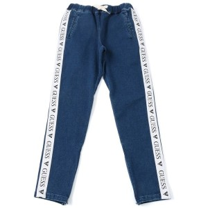 ゲス GUESS Originals SIDE LINE DENIM TRACK PANT (MEDIUM BLUE)【JAPAN EXCLUSIVE ITEM】