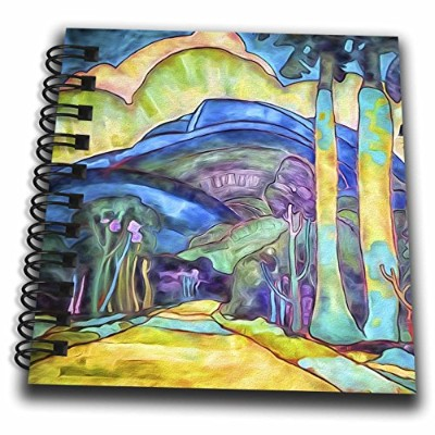 3dローズDoreen Erhardt Tropical–ヴィンテージハワイ風景by Arman Manookian Restored–Drawing Book 4x4 notepad db...
