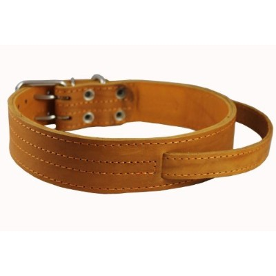 Tan Genuine Leather 27x1.75 Wide Handle Collar Fits 20-24.5 Neck X-Large Great Dane Mastiff by Dogs My Love