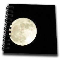 3drose Jos fauxtographee- The Huge Moon – The Huge Round Moon on a DeepブラックSky – Drawing Book 4x4...