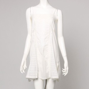 【SALE 80%OFF】ナノ ユニバース  NANO UNIVERSE outlet united bamboo FF LACE GODET TUNIC (ホワイト)