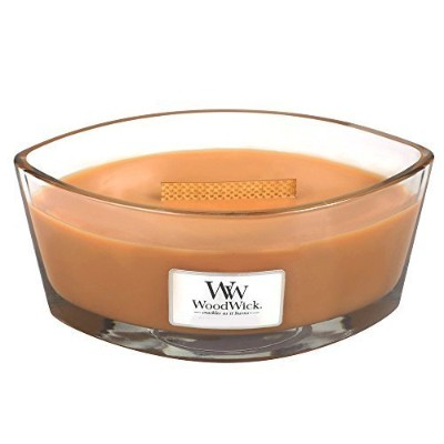 Hot Toddy WoodWick新しいコレクションHearthWick Flame Large Oval Jar Scented Candle–16オンス