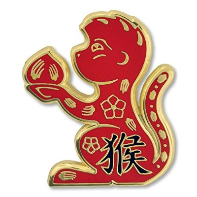 Pinmart 's Chinese Zodiac Year of the Monkey New Yearエナメルラペルピン 10 ゴールド