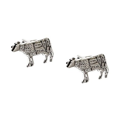 Butchers Cuts BeefのCow Chef Cufflinks x2aj680