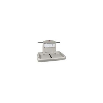 Rubbermaid Commercial Sturdy Station 2 Baby Changing Table, Platinum by Rubbermaid Commercial