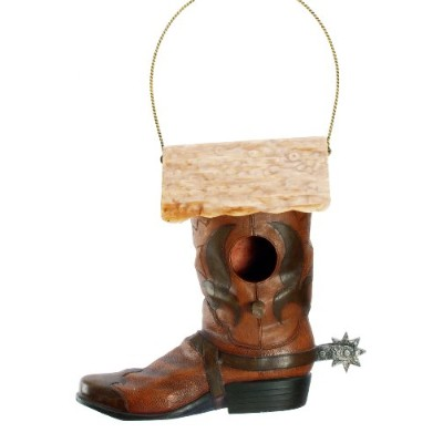 Spoontiques 10384 Western Boot Birdhouse
