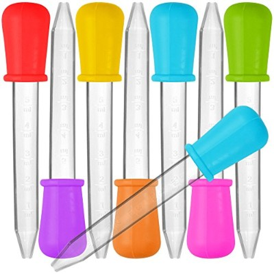 8 Pcs Liquid Droppers, SENHAI Silicone and Plastic Pipettes Transfer Eyedropper with Bulb Tip for...