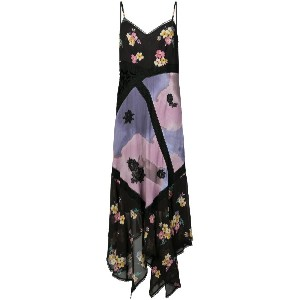 Coach mixed print slip dress - ピンク&パープル