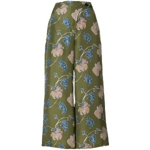 Christian Wijnants cropped printed trousers - グリーン
