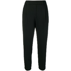 Twin-Set tapered trousers - ブラック