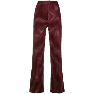 Pinko striped flared trousers - レッド