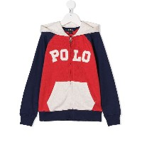 Ralph Lauren Kids zip-up hoodie - レッド