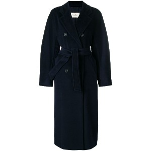 Max Mara belted double breasted coat - ブルー