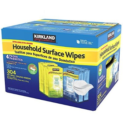 Kirkland Signature Household Surface Wipes, 304 Pack by Kirkland Signature