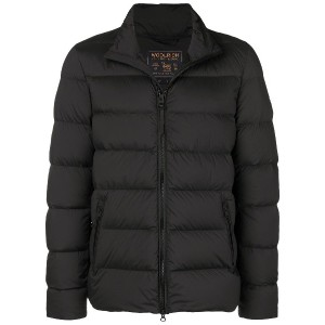 Woolrich quilted padded jacket - ブラック