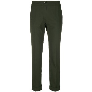 Etro cropped slim-fit trousers - グリーン