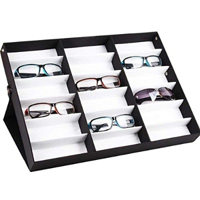 Fashine 18 Piece Sunglass Eyewear Eye Wear Display Tray Case Stand. Also great for Watches and...