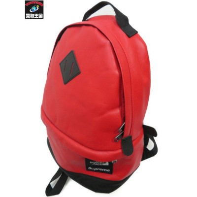 Supreme The North Face 17AW Leather Day Pack RED【中古】