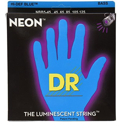 DR カラーベース弦 ブルー NEON BASS Guitar Strings [NEON-BLUE] (DR-NBB545/45-125)
