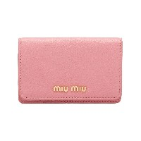 Miu Miu Madras business cardholder - ピンク&パープル