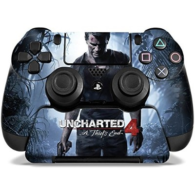 High Quality Uncharted 4 A Thief's End - PS4 Controller and Controller Stand Skin Set