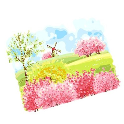 wowdecorペイントby Numbersキットfor大人子供、数Painting–美しいファンタジーScenery 16X 20インチ framed TCai-4050X6523