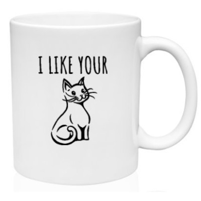 Funny Mug 11oz–I Like Your Pussy Cat。I Like Your Weiner犬–新しいデザイン。男性と女性–I Like Your chicken-...