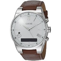【当店1年保証】ゲスGUESS Men's Stainless Steel Connect Smart Watch - Amazon Alexa, iOS and Android Compatible...
