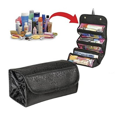 Cosmetic Bag DE LAMP Round Roll-N-GO Makeup Case Travel Pouch Smart Toiletry Bag 2 pack