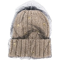 Ca4la star embellished knitted hat - ヌード&ナチュラル