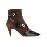 Tod's pointed buckled ankle boots - ブラウン