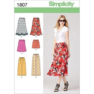 Simplicity 1807 Misses Skirt, Pants and Shorts Sewing Pattern, Size U5 (16-18-20-22-24) by...