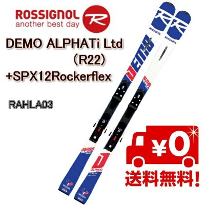 ROSSIGNOL 金具付ロシニョールスキー 2018/2019 DEMO ALPHA Ti Ltd (R22)+SPX 12 Rockerflex Black Icon/ スキー...