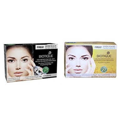 Biotique combo gold and diamond facial kit (MRP Rs.565)