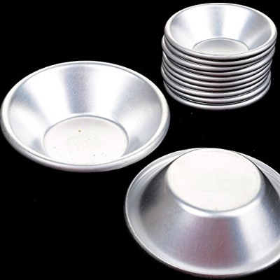 12Pcs Egg Tart Moulds Cake Cookie Muffin Baking Cups Tool Aluminium Reusable Nonstick Mould