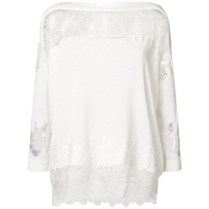 Ermanno Scervino lace knit sweater - ホワイト