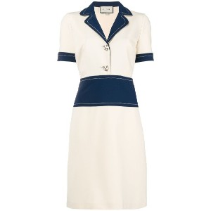Gucci colourblock shirt dress - ヌード&ナチュラル
