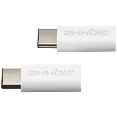 Axxbiz CableBiz-C010W, USB 2.0 Type C to Micro USB Adapter - C Male to Micro Female - For Nexus 5X ...