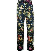 F.R.S For Restless Sleepers floral-print trousers - ブルー