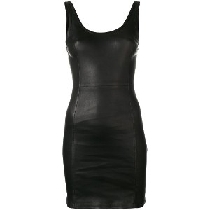 T By Alexander Wang fitted mini dress - ブラック