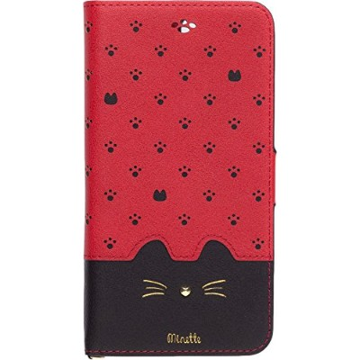 NATURALdesign iPhone8/7/6s/6Plus兼用手帳型ケース Minette Red-Black iP7p-MIN08