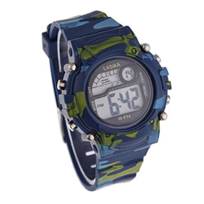 FEITONG(TM) Children Boys Camouflage Swimming Sports Digital Wrist Watch Waterproof by FEITONG
