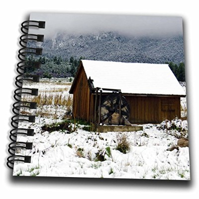 3drose Jos fauxtographee- Pine Valley Waterwheel–An Old水ホイールin Pine Valley Utah Surrounded by雪–...