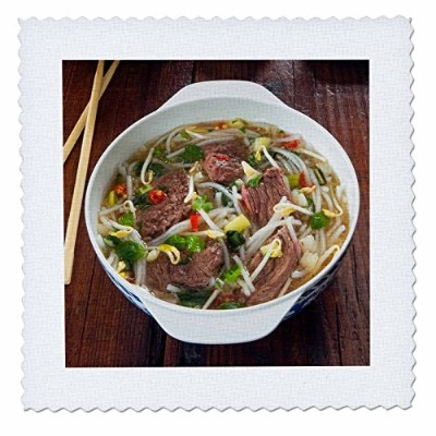 3drose Danita Delimont – Food – Vietnamese Pho Beef Broth、ベトナム、アジア – キルト正方形 18x18 inch quilt square...