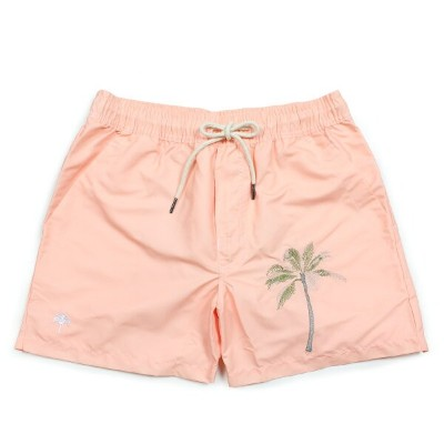 OAS PEACHED PALM EMBROIDERED SWIM TRUNKS オーエーエス 水着 メンズ スイムウェア ピンク 5001-127 [7/19 新入荷] [187]