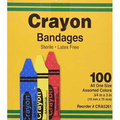 Bandages, Crayon Strips, Adhesive, 100/BX (AGPCRA5261) Category: Bandages and Dressings by ASO...