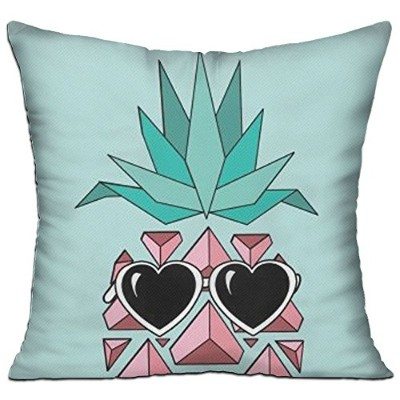 GRUNVGT Cushion Cover Pillow Cover Cute Pineapple With Sunglasses Decorative Customized Pillow Case...