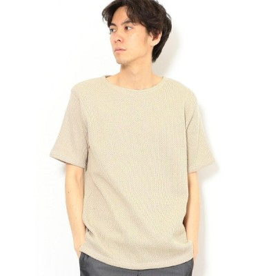 【SALE/50%OFF】UNITED ARROWS green label relaxing SC GIM ローゲージ カノコ ボートネック 半袖 カットソー ユナイテッドアローズ...