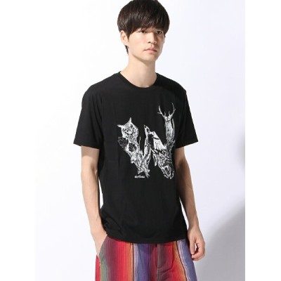 【SALE/15%OFF】ADPOSION (M)【WILD THINGS× Daisketch】プリントT テットオム カットソー【RBA_S】【RBA_E】【送料無料】