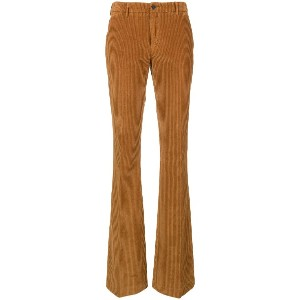 Pt01 corduroy flared trousers - ブラウン